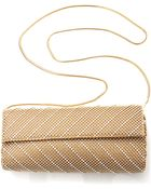 Whiting & Davis Crystal Chevron Clutch - Lyst
