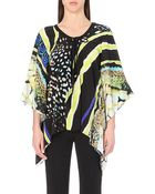 Roberto Cavalli Abstract-Print Silk Kaftan - Lyst