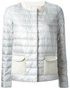Herno Lurex-Detail Padded Jacket - Lyst