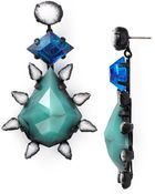 Dannijo Celeste Aqua Crystal Drop Earrings - Lyst