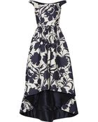 Oscar de la Renta Off-The-Shoulder Printed Cotton And Silk-Blend Dress - Lyst