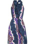 Peter Pilotto Ellipse Printed Silk Dress - Lyst