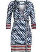 Diane von Furstenberg Tallulah Silk Wrap Dress - Lyst
