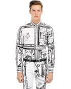 Anthony Vaccarello X Versus Versace Printed Cotton Shirt - Lyst