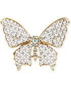 Jones New York Goldtone Crystal Butterfly Pin - Lyst