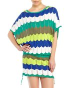 Trina Turk Chevron Pointelle Knit Cover-Up - Lyst