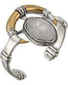 Lucky Brand Modern Metals Organic Stone Horn Cuff - Lyst