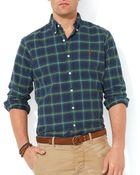Ralph Lauren Polo Plaid Oxford Shirt – Slim Fit - Lyst