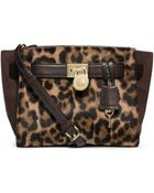 Michael Kors Hamilton Traveler Leopard Hair Calf Messenger - Lyst