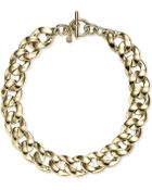 Michael Kors Gold-Tone Chain Statement Necklace - Lyst