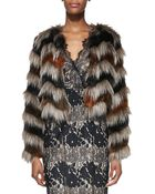 Twelfth Street Cynthia Vincent Faux-Fur Long-Sleeve Chubby Jacket - Lyst