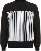 Alexander Wang Barcode Sweater - Lyst