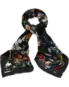McQ by Alexander McQueen Festival Floral Print Scarf - Lyst