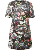 McQ by Alexander McQueen Festival Floral Print Mini Dress - Lyst