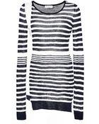 Sonia Rykiel Voile Knit Crewneck Sweater - Lyst