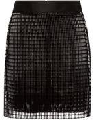 Antonio Berardi Flocked Airtex Mini Skirt - Lyst