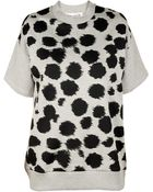 Être Cécile All Over Cheetah Short Sleeve Sweatshirt - Lyst