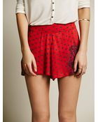 Free People Sahara Printed Short - Lyst