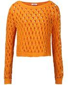 Moschino Long Sleeve Sweater - Lyst