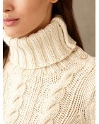 RRL Aran-Knit Turtleneck - Lyst