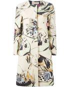 Marni Floral Print Coat - Lyst