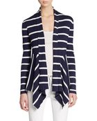 Saks Fifth Avenue Black Label Striped Open-Front Cardigan - Lyst