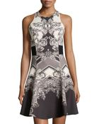 Nicole Miller Carson Paisley Fit-And-Flare Dress - Lyst