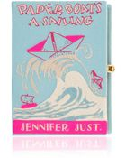 Olympia Le-Tan Paperboats A Sailing Clutch - Lyst