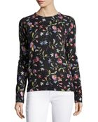 Equipment Sloane Floral-Print Crewneck Sweater - Lyst