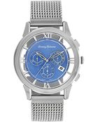 Tommy Bahama Mens Swiss Chronograph Stainless Steel Mesh Bracelet 42mm - Lyst