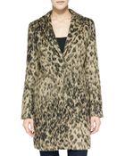 Smythe Fuzzy Leopardprint Lab Coat - Lyst