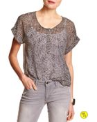 Banana Republic Factory Print Sheer Top - Lyst