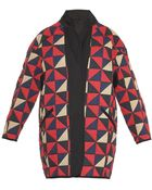 Etoile Isabel Marant Enid Quilted Triangle Coat - Lyst