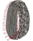 Cusp Sparkle Houndstooth Circle Scarf - Lyst