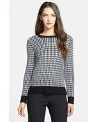 Nordstrom Collection Zigzag Cotton Knit Pullover - Lyst