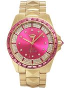 Juicy Couture Women'S Stella Pyramid Stud Gold-Tone Stainless Steel Bracelet Watch 40Mm 1901131 - Lyst