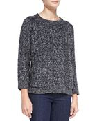 525 America Cable-Knit Double-Pocket Sweater - Lyst
