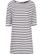 Topshop Tall Stripe Tunic - Lyst