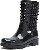 Valentino Rockstud Rainboots - Lyst