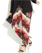 Inc International Concepts Plus Size Printed Tapered-Leg Soft Pants - Lyst