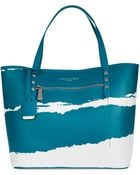 Kenneth Cole Dover Street Leather Tote Bag - Lyst
