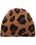 Tak.ori Cortina Leopard Knit Beanie - Lyst