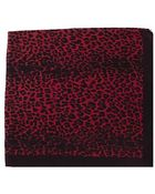 Rika Red Panther Scarf - Lyst
