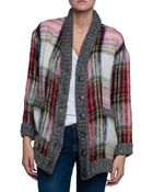 Sea Oversized Plaid Cardigan - Lyst