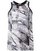 Helmut Lang Marble Print Tank Top - Lyst