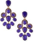 Oscar de la Renta Faceted Resin Chandelier Earrings - Lyst