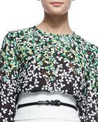 Carolina Herrera Leather Skinny Belt - Lyst