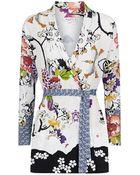 Etro Blossom Print Cardigan - Lyst