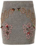 Stella McCartney Fiona Embroidered Mini Skirt - Lyst