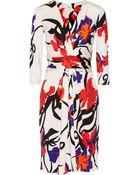Issa Wrap-Effect Silk-Jersey Dress - Lyst
